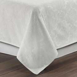 Colcha fina jacquard chenilla Ornamental blanco 200x270 cama-105