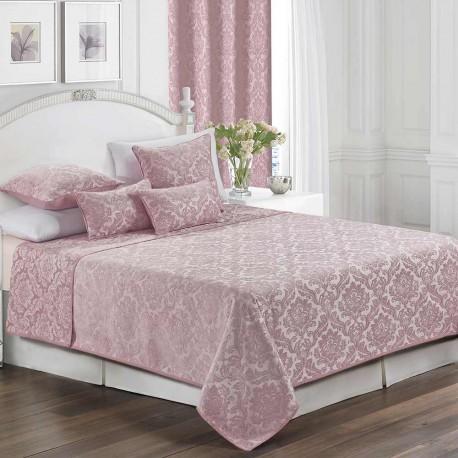 Colcha fina jacquard chenilla Ornamental malva 200x270 cama-105