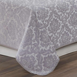 Colcha Jacquard chenilla Ornamental perla 200x270 cama-105