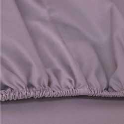 Sábana bajera algodón 200 Malva cama-200