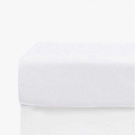 Sábana bajera ajustable 200 lisa color blanco. cama-200