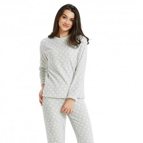 Pijama coral ESTRELLITAS Perla pijama-invierno