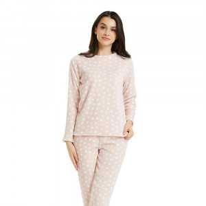Pijama coral TOPOS Rosa Palo