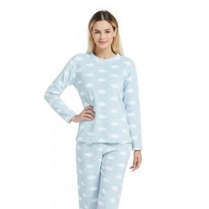 Pijama coral IBERIA Celeste