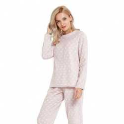 Pijama coral ESTRELLAS Rosa Palo pijama-invierno