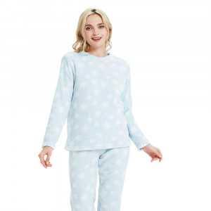 Pijama coral NIEVE Celeste