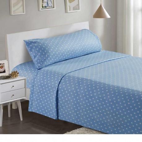Juegos de sábanas termales 90 ESTRELLAS Celeste cama-90