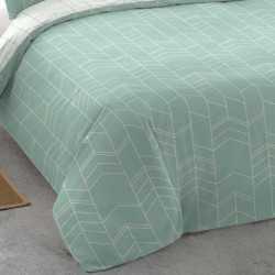 Funda nórdica algodón 180 MANOLITO REV Verde Tiffany cama-180