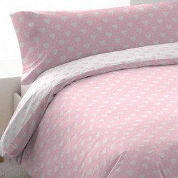 Funda Nórdica algodón VALENTINA Rev 90 Rosa cama-90