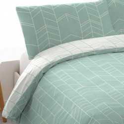 Funda nórdica  200 MANOLITO REV Verde Tiffany cama-200
