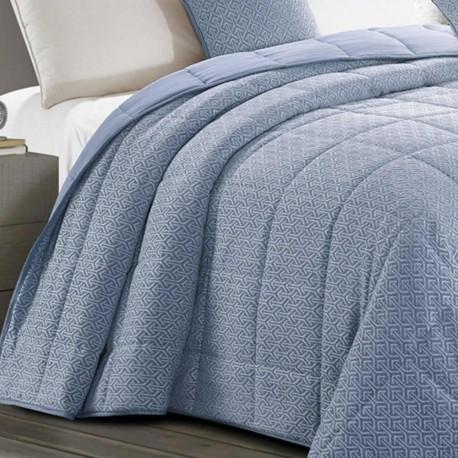 Colcha jacquard chenilla Flecha azul índigo 240x270 80gr cama-135