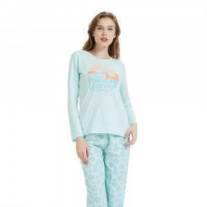 Pijama largo algodón Santa...