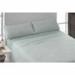 Juego de sábanas algodón 200 Rev NEMO Verde Tiffany cama-200
