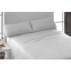 Juego de sábanas algodón blanco 200 cama-200