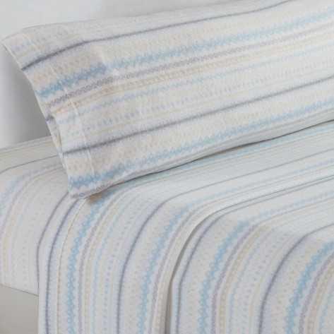 Juegos de sábanas termales 90 NAVIDAD celeste/beige cama-90