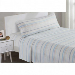 Juegos de sábanas termales 105 NAVIDAD celeste/beige cama-105