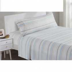 Juego de sábanas termales Navidad celeste/beige 135/140 cama-135