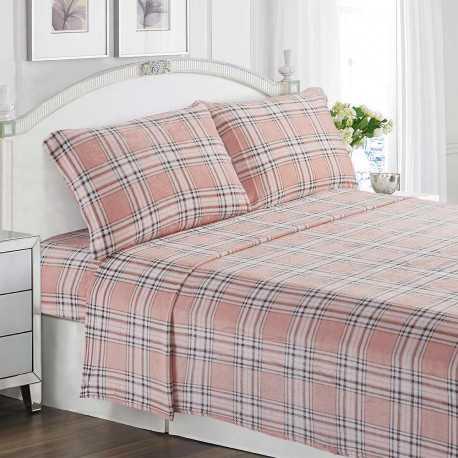 Juego de sábanas terciopelo 150/160 CUADRO ANDREA cama-150