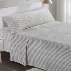 Juego de sábanas terciopelo 105 RAYA MARSELLA Gris Perla cama-105