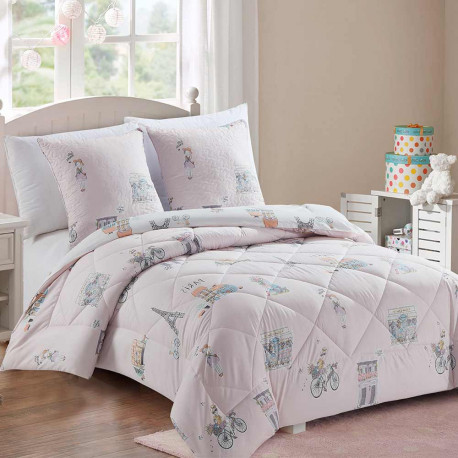Edredón Conforter 180x270 NOTREDAME 90 Rosa cama-90