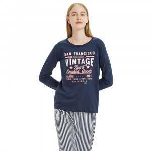 Pijama Mujer Mangas Largas...