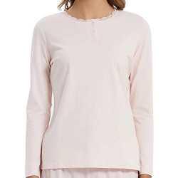 Pijama Mujer Franela raya MARSELLA Rosa pijama-invierno