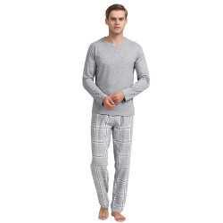 Pijama Hombre Franela cuadro GALA Perla pijama-hombre
