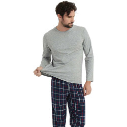 Pijama Hombre Franela cuadro ALVARO Perla pijama-hombre