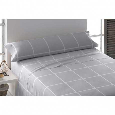 Juego de sábanas franela 105 NEBLINA Gris cama-105