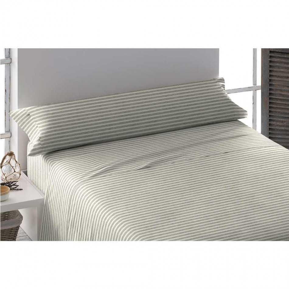 Juego de sábanas franela 105 RAYA HORIZONTAL cama-105