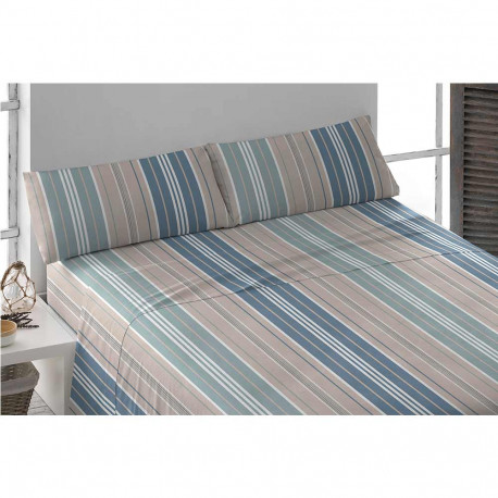 Juego de sábanas algodón 200 RAYA MISTRAL cama-200