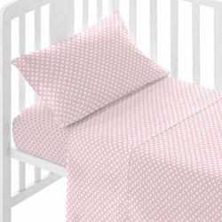 Juego de sábanas algodón OHIO REV Rosa cuna sabanas-cuna