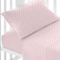 Juego de sábanas algodón OHIO REV Rosa minicuna sabanas-minicuna