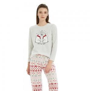 Pijama Polar OSO Gris Perla