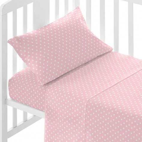 Juego de sábanas algodón cuna MARAVILLA rosa sabanas-cuna