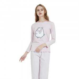 Pijama manga larga RARE malva