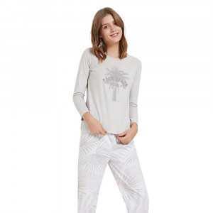 Pijama manga larga PALMERAS...