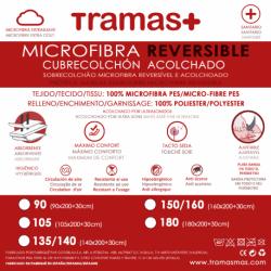 Cubrecolchón acolchado microfibra reversible protectores-de-colchon
