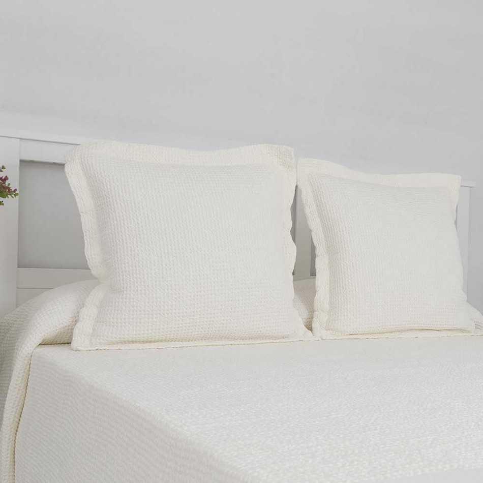 Colcha Piqué Lavanderia Blanco 180x270 cama-90