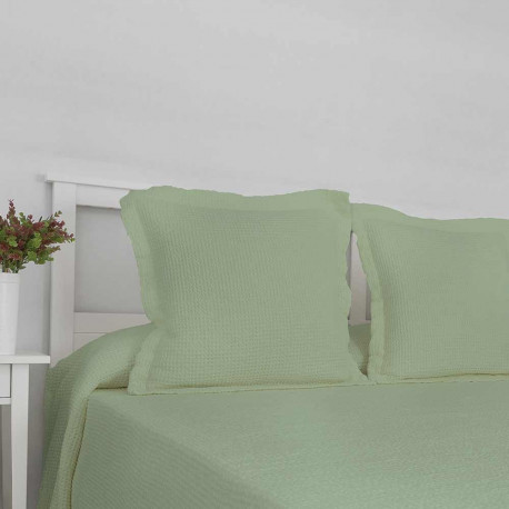 Colcha Piqué Lavanderia Verde 180x270 cama-90