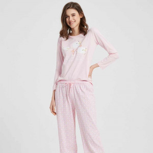 Pijama Largo Algodón Oveja...
