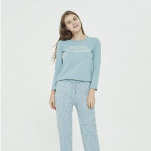 Pijama Largo Algodón VELETA...