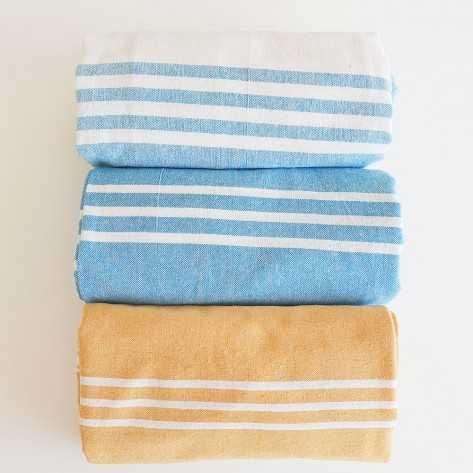 Pareo Rayas Celeste toallas
