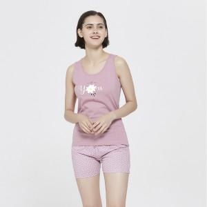 Pijama corto Margarita Granate