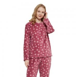 Pijama coral Snow malva