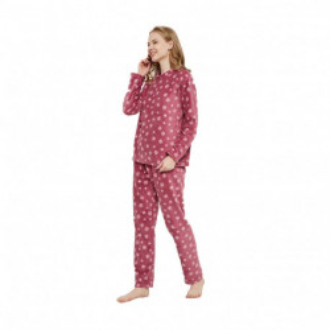 Pijama coral Snow malva pijama-coral