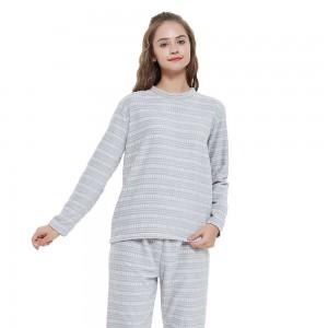 Pijama coral Maina gris