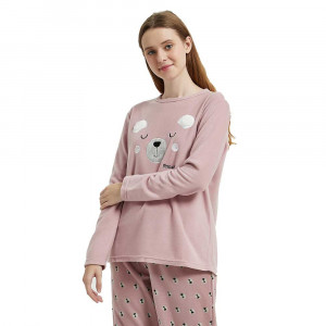 Pijama polar Mimoso malva/rosa