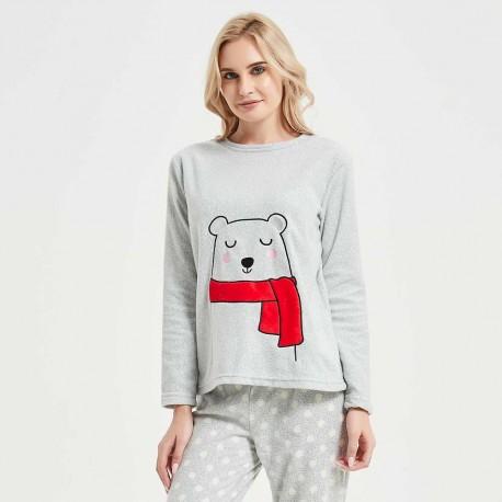 Pijama polar Yogui perla pijama-invierno