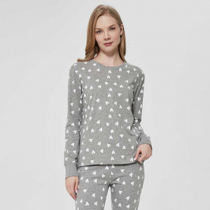 Pijama largo algodón con...